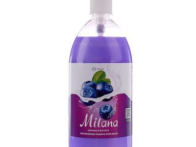 Жидкое крем-мыло Milana черника в йогурте с дозатором 1000 мл