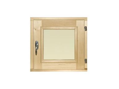 Окно для бани 30х30см липа,остекление