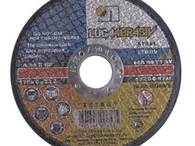Диск отрезной по металлу 115х22х1,2 мм мет+нерж