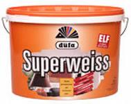 Краска Дюфа SUPERWEISS 10 кг глубокоматовая белая