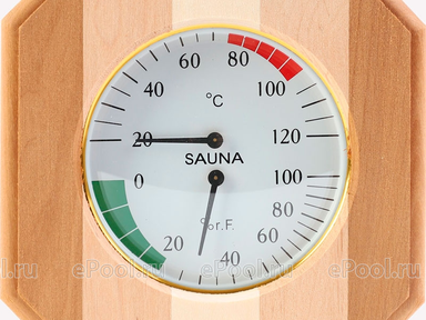 Термогигрометр 8-угольник ТН-12С (Контраст)