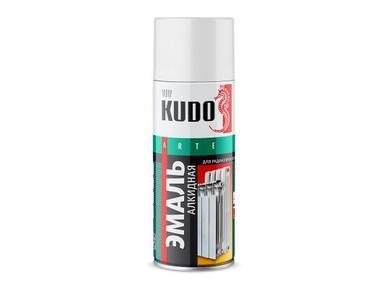 Краска аэрозоль KUDO 520мл Белая для радиаторов KU-5101