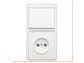 Блок БКВР-037 (выкл. 1кл.+роз.1гн) с/у