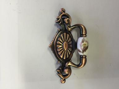 Ручка мебельная керамика медь