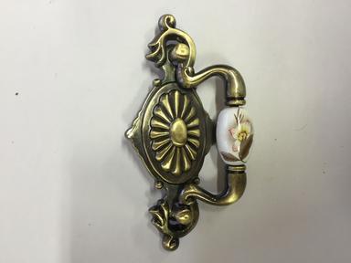 Ручка мебельная керамика бронза