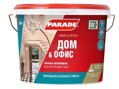 Краска PARADE W4 акрил белая матовая 9л