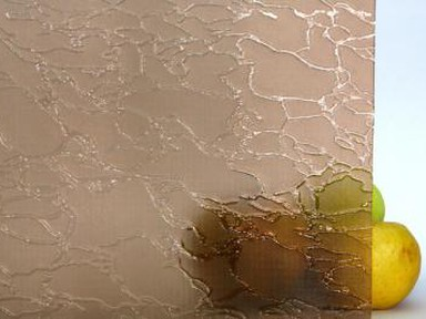 Стекло узор Майфл бронза (1 лист - 2000х1500 мм)