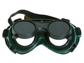 Очки газосварщика с откидным стеклом
