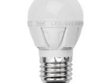 Лампа светод-ая G45-6W/NW/4000/E27 диммируемая