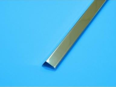 """Уголок пристенный алюминий суперхром 19х24 L=3 м, """"LUX"""""""