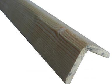 Уголок деревянный 80х80х3000 мм гладкий
