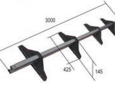 Снегозадержатель усиленный 3м трубчатый на удлиненных опорах цветной  (к-т)