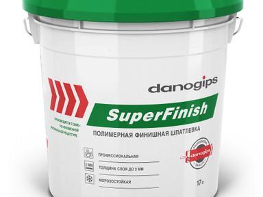 Шпатлевка готовая Danogips Super Finish 28кг-17л (Шетрок)