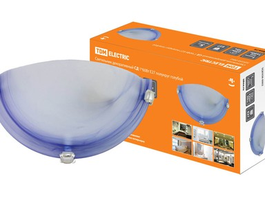 Светильник декор.СД 1*60Вт,голубой в инд.коробке SQ0358-0002