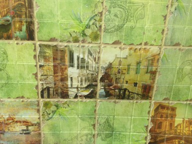 ПВХ панель Мозаика венеция 960х480