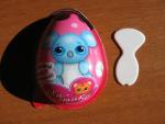 Яйцо пластик с игрушкой и шоколадом Миластики 20гр