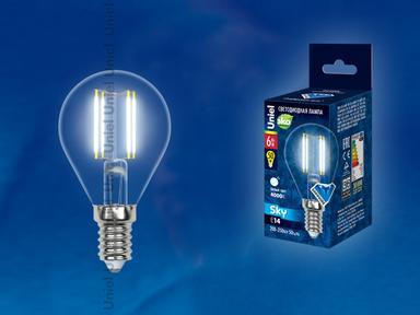 Лампа светодиодная  G45-6W/WW/3000/E14CL PLS02WH