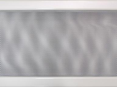Решетка вент. для камина 170х300 мм белая с жалюзи