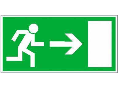 """Знак эвакуационный """"Направление к эвакуационному выходу направо""""100*300 Рексант 56-0027"""
