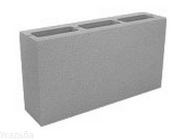 Блок керамзит. пуст.90х188х390 мм вес 9 кг(поддон-288шт.) Сафоново