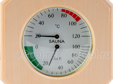 Термогигрометр 8-угольник ТН-12Л(Липа)