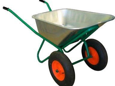 Тачка строительная 422 Бизон (120 л,2-колес.,колесо пневмо 6.5х8 F20 ассим.,ГП-250 кг)