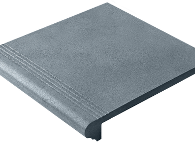 Ступень  угловая с капиносом  из бетона 33х33