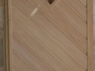 Дверь банная липа вставка стекло 1,9х0,7 м