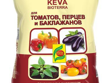 Грунт KEVA BIOTERRA томаты и перцы 10л