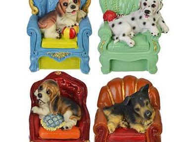 Копилка Собака в кресле полистоун 14,5*10.5*11.5см