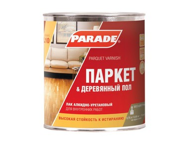Лак паркетный PARADE алкидно-уретановый п/матовый 0,75л L10