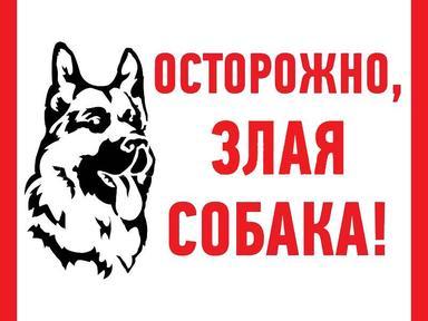 """Знак наклейка """"Злая собака""""200*200 Рексант 56-0036"""