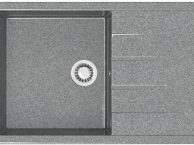 Мойка Granit MARRBAXX Джоли Z161Q8,темно-серый, 750х505х218 мм