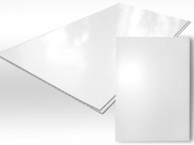 ПВХ панель  3000х375х8  Белый глянец