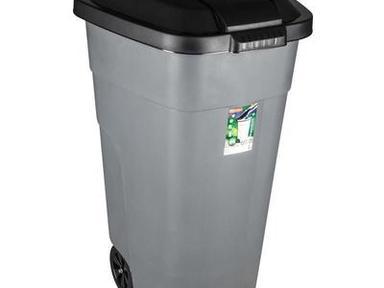 Контейнер пластик для мусора на колесах  120л
