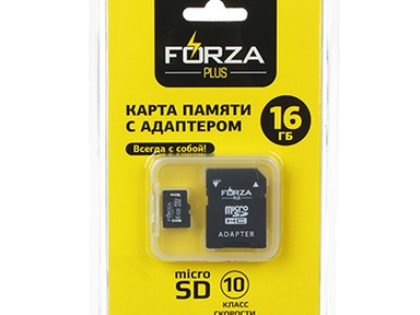 Флеш-карта Forza с адаптером,  micro SD, 8ГБ