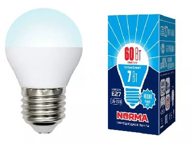 Лампа светодиодная  G45-7W/NW/4000/E27/FR/NR