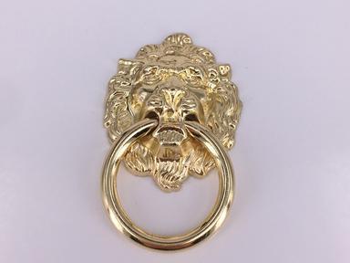 Ручка мебельная Лев золото