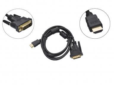 Шнур HDMI - DVI-D gold 5М с фильтрами REXANT 17-6306