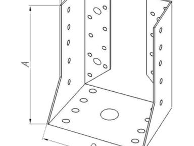 Опора бруса оцинк. закр. OBR Z 140х76х100х2,0 мм