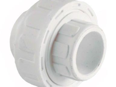 П-Муфта разъем ф32 белая пластик