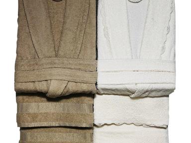 Набор банный халат+полотенце мужской