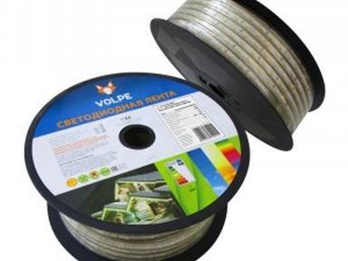 Светодиодная влаг-ая лента Volpe ULS-Q215 5050-30LED/m-14mm-IP67-220V-7,2W/m-25M-RGB