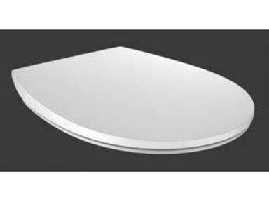 Сиденье для унитаза HARO Эра стальное крепление, микролифт, дюропласт, белый