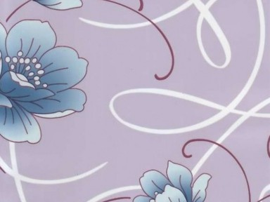 Пленка с/к 0,45м*8м 8251 D&B цветы на фиол.фоне