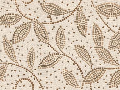 Плитка наст Travertine mosaic коричневый декор 25х40
