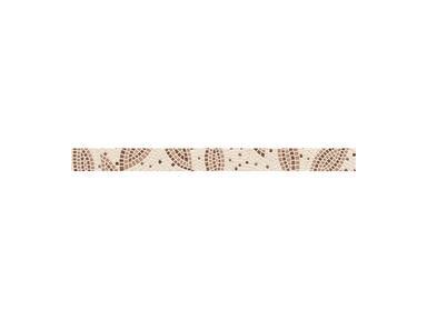 Бордюр Travertine mosaic коричневый 3х40