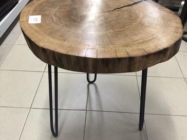 Стол круглый дуб (лофт) Н-560мм ф550мм