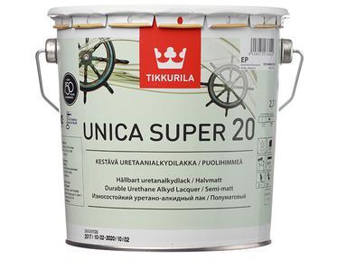 Лак яхтный Тиккурила УНИКА СУПЕР 20 полуматовый 2,7л