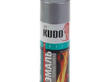 Краска аэрозоль KUDO 520мл термостойкая серебристая
